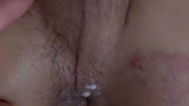 Big Cock Daddy Fills Hot Transsexual Dripping Cum Pussy